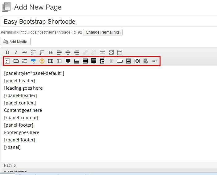 Easy Bootstrap Shortcode Plugin WordPress
