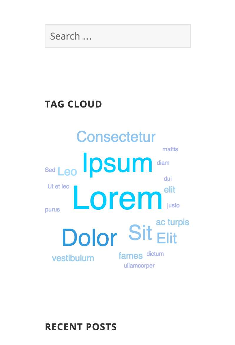 Tag Cloud Widget Plugin WordPress, Download, Install
