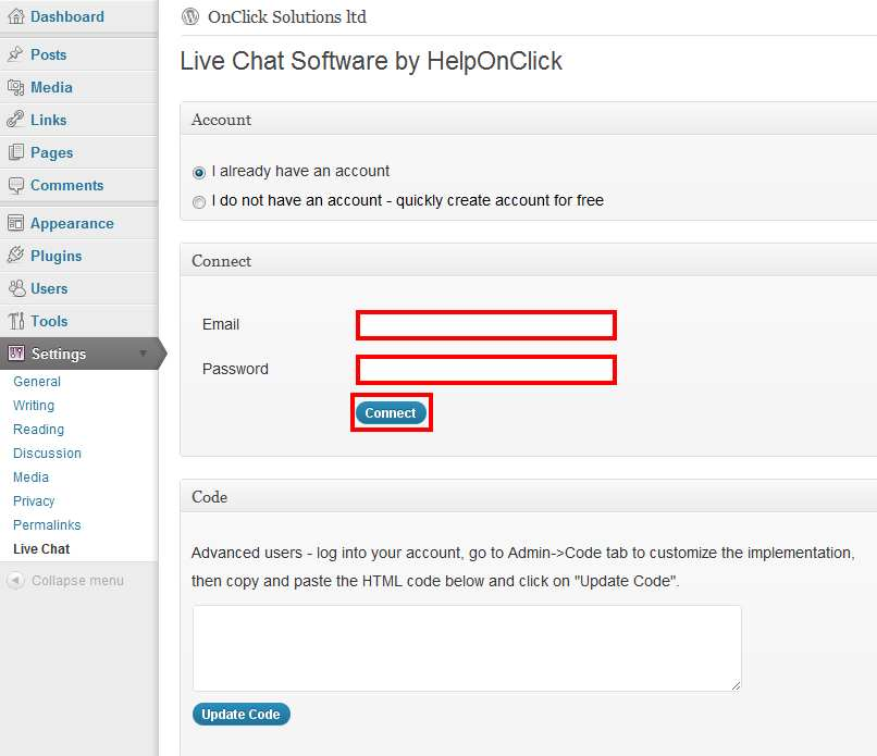 Live Chat Software by HelpOnClick Plugin WordPress, Download, Install