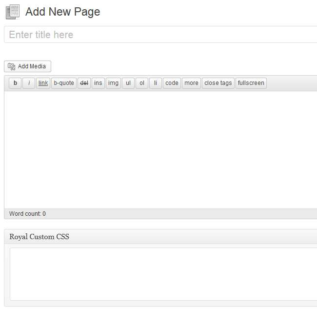 Royal Custom CSS for Page and Post Plugin WordPress