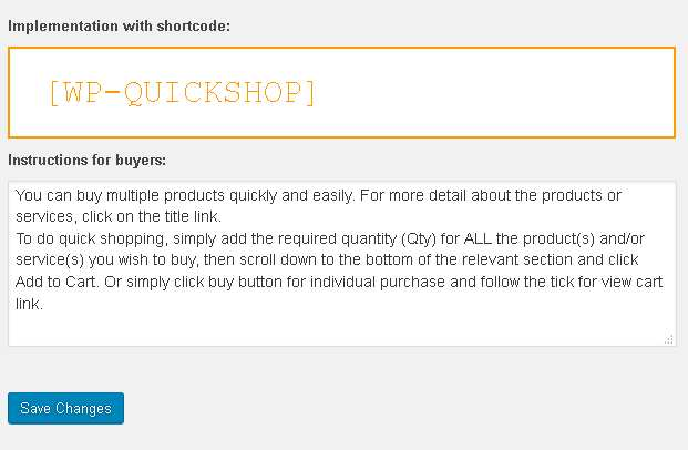 WP Quick Shop Plugin WordPress
