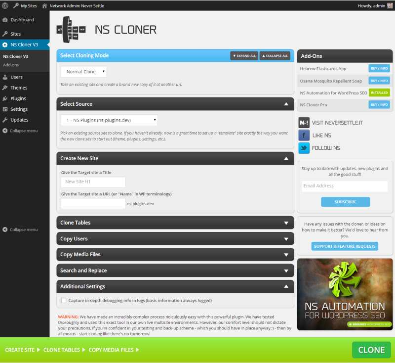 NS Cloner – Site Copier Plugin WordPress, Download, Install