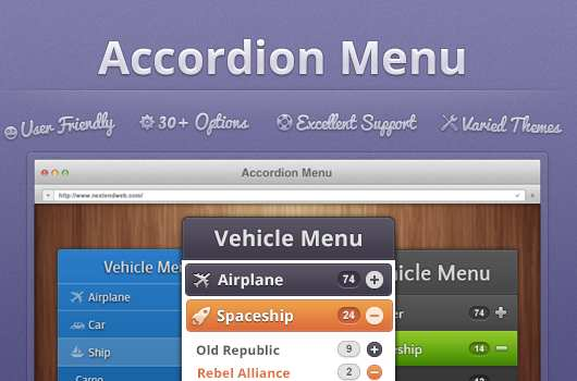 Nextend Accordion Menu Plugin WordPress, Download, Install