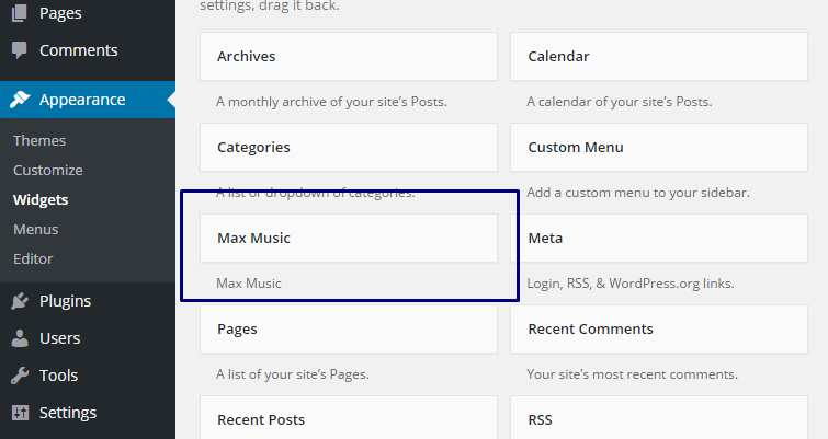 Max Music Plugin WordPress, Download, Install