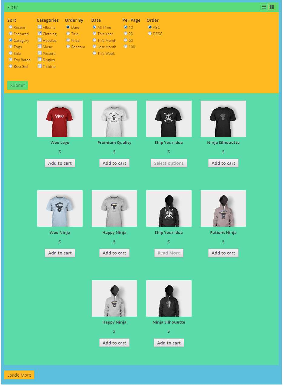 WooCommerce Product Filter Grid Plugin WordPress, Download, Install