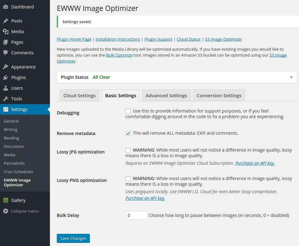 EWWW Image Optimizer Plugin WordPress