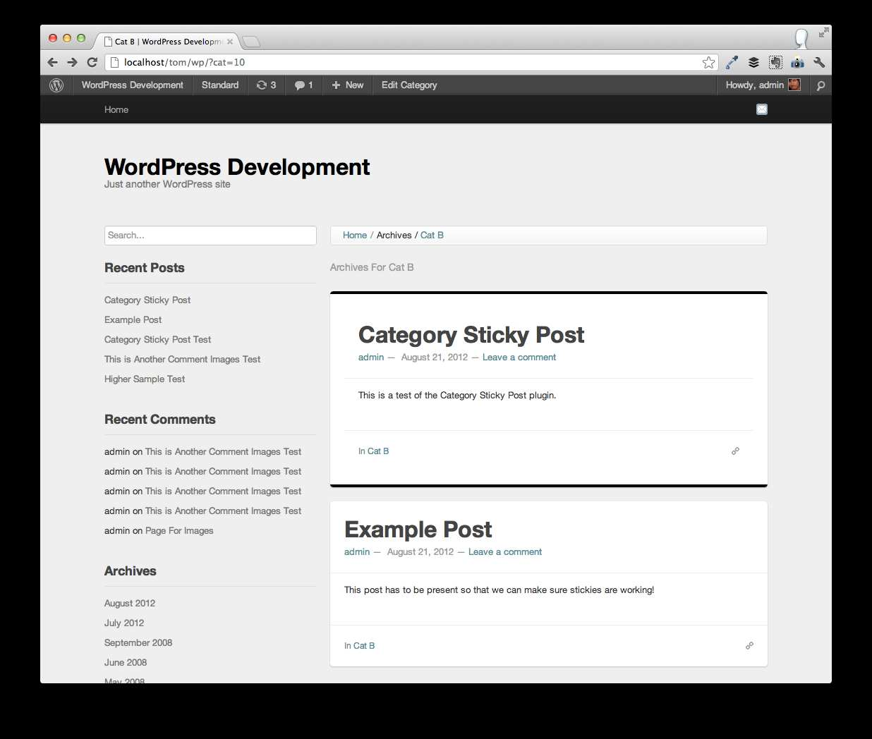 Category Sticky Post Plugin WordPress, Download, Install