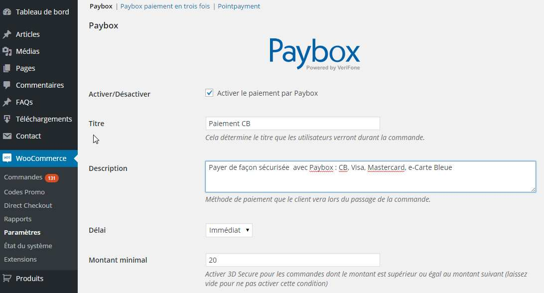 Paybox WooCommerce Payment Gateway Plugin WordPress, Download, Install