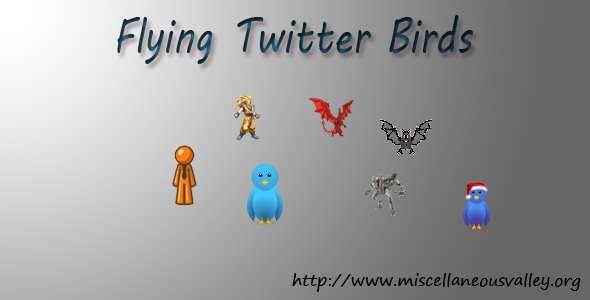 Flying Twitter Birds Plugin WordPress, Download, Install