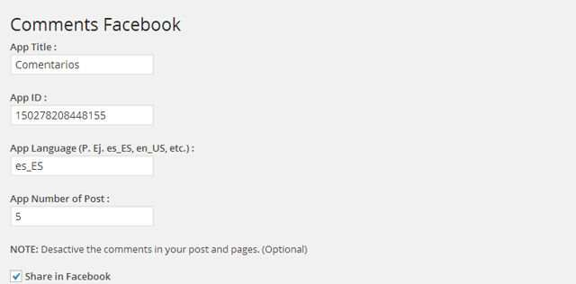 Comments Facebook and Share Button Plugin WordPress