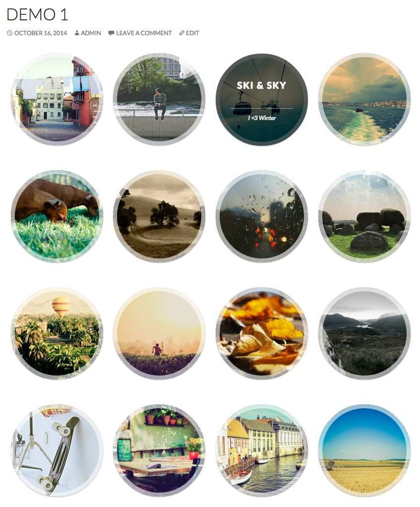 Circles Gallery Plugin WordPress, Download, Install