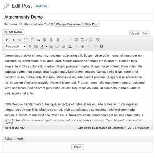 Attachments Plugin WordPress, Download, Install