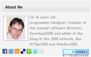 About Me 3000 widget Plugin WordPress, Download, Install