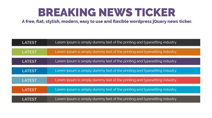 Breaking News Ticker Plugin WordPress