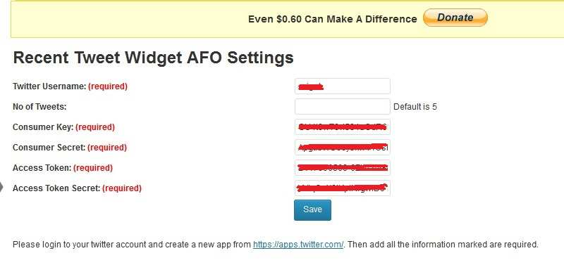 Recent Tweet Widget AFO Plugin WordPress