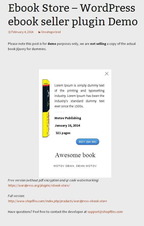Ebook Store Plugin WordPress