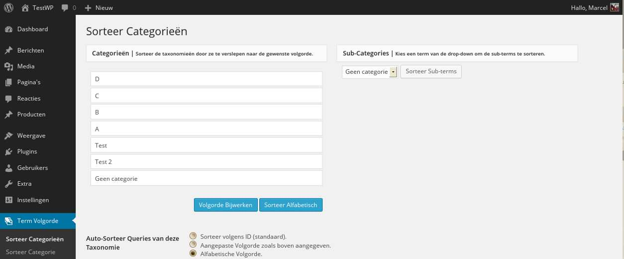 Custom Taxonomy Order NE Plugin WordPress, Download, Install