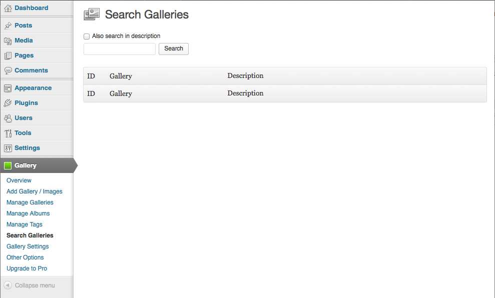 NextGEN Gallery Search Plugin WordPress, Download, Install