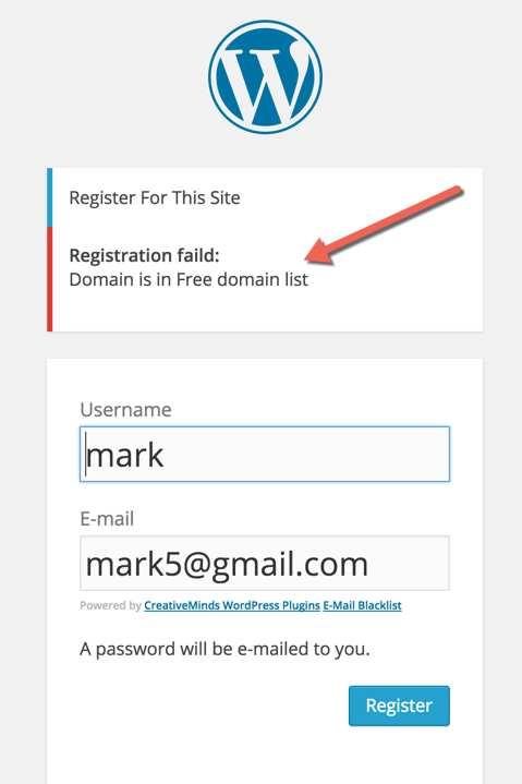 CM E-Mail Registration Blacklist Plugin WordPress, Download, Install