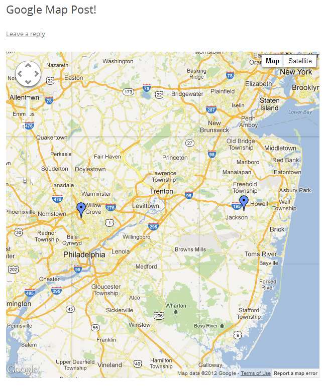 Post Google Map Plugin WordPress, Download, Install
