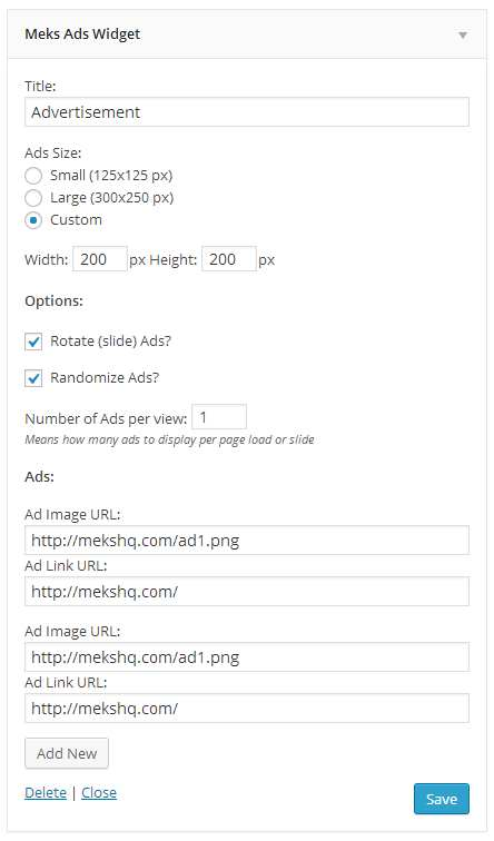 Meks Easy Ads Widget Plugin WordPress, Download, Install