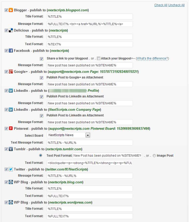 NextScripts: Social Networks Auto-Poster Plugin WordPress