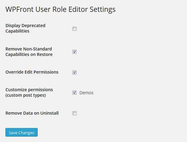 WPFront User Role Editor Plugin WordPress