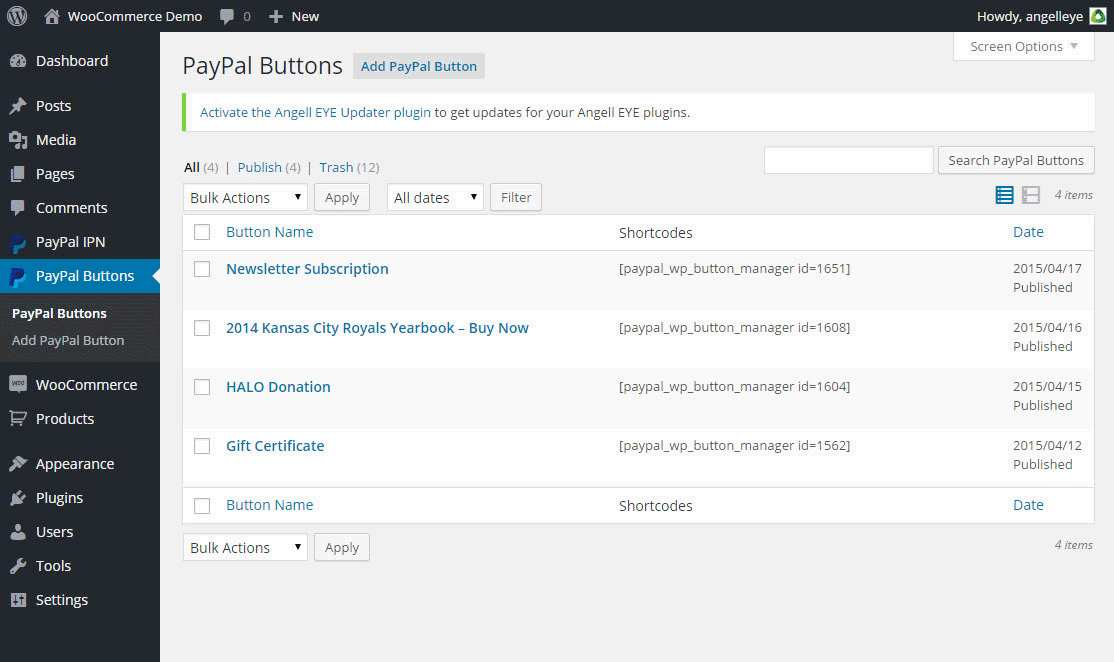 PayPal WP Button Manager Plugin WordPress, Download, Install