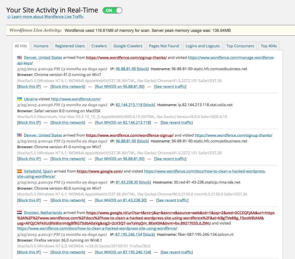 Wordfence Security Plugin WordPress