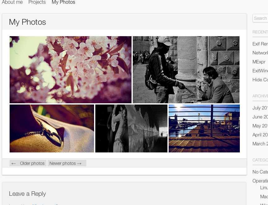 Flickr Photostream Plugin WordPress