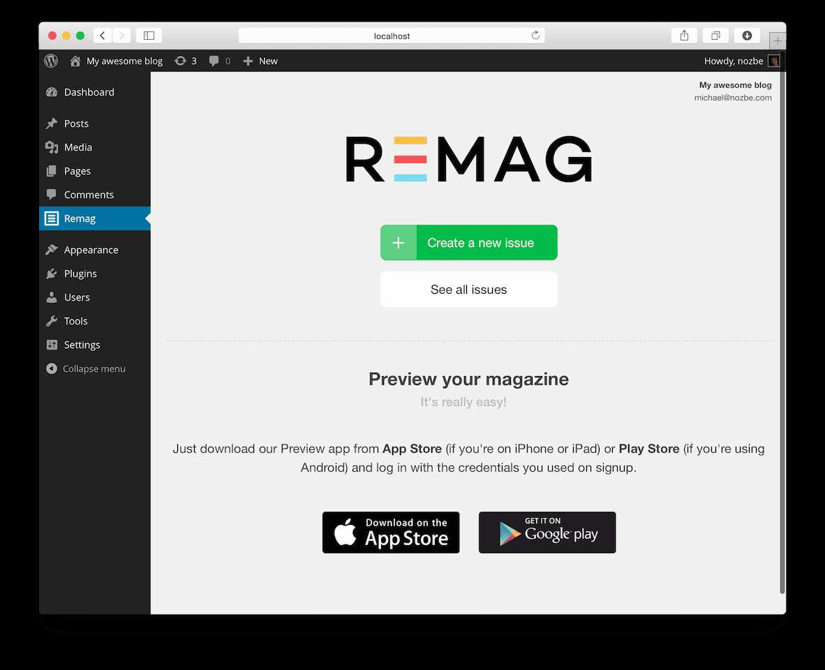 Remag Plugin WordPress, Download, Install