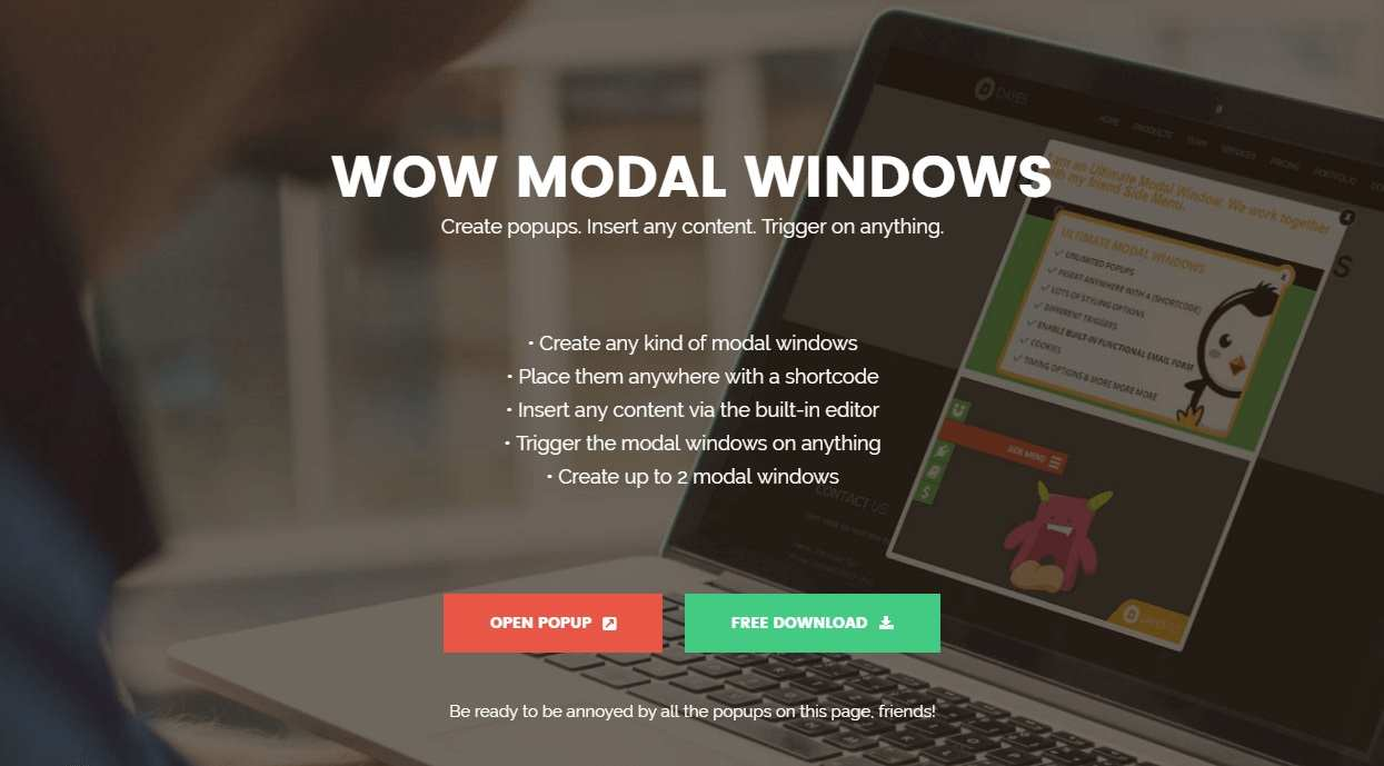 Modal Window – create a simple popup & insert any content Plugin WordPress, Download, Install