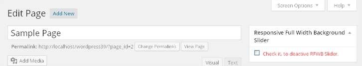 Responsive Full Width Background Slider Plugin WordPress