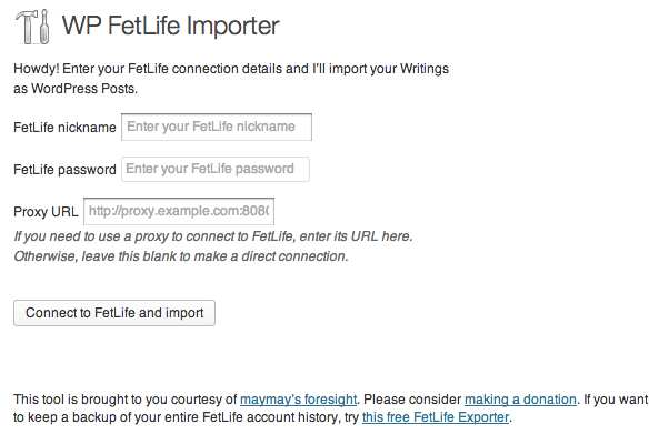 WP FetLife Importer Plugin WordPress, Download, Install