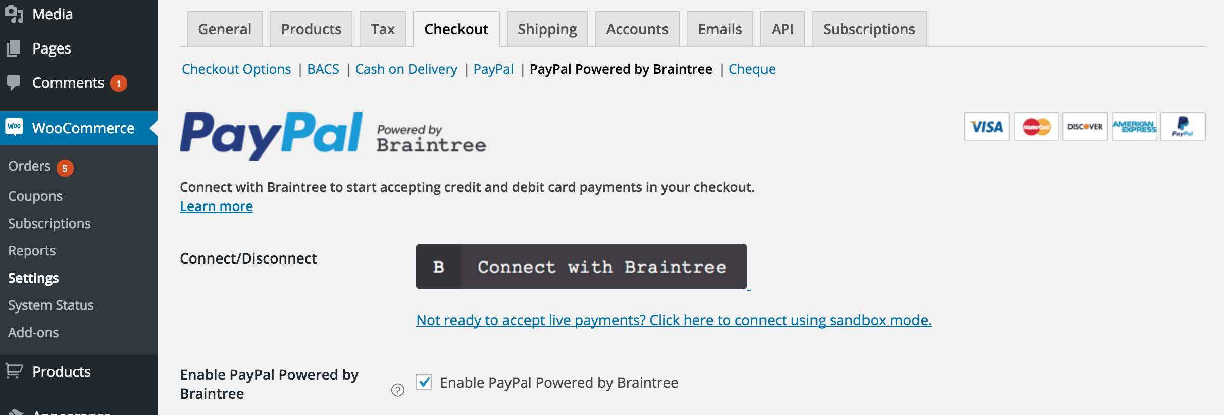 WooCommerce PayPal Powered by Braintree Payment Gateway Plugin WordPress, Download, Install