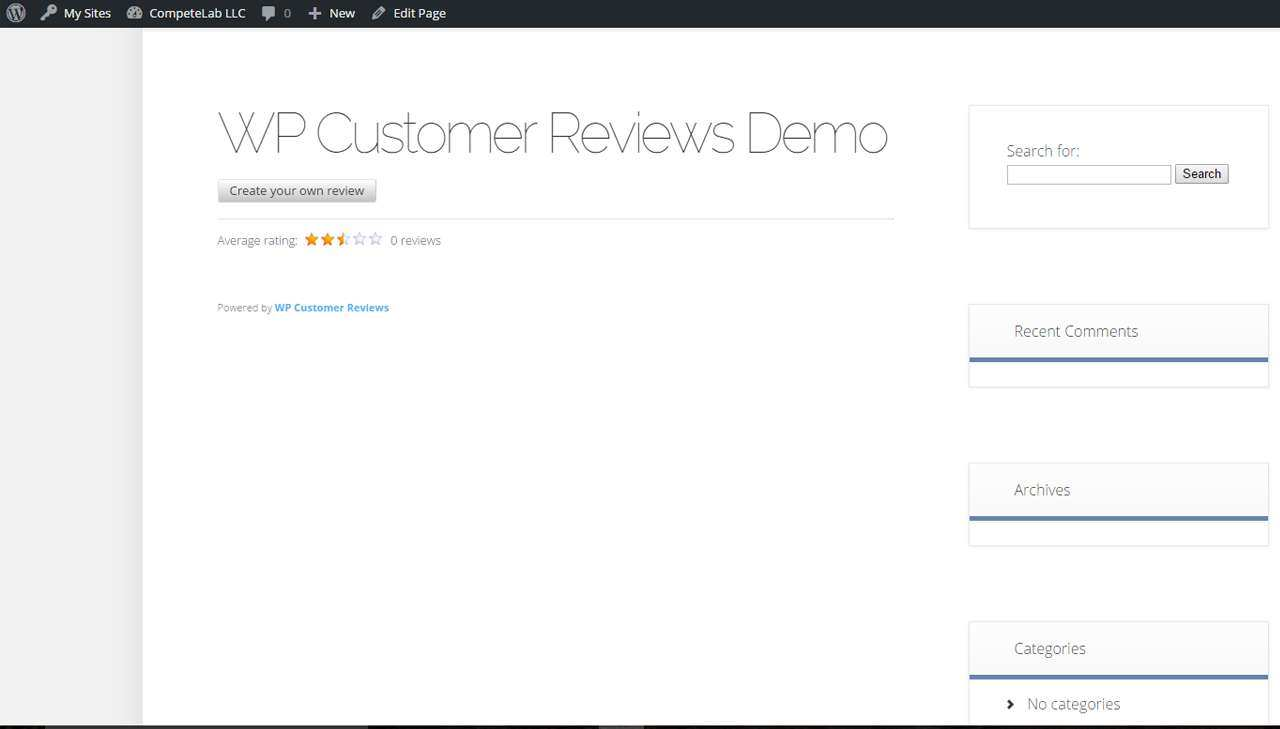 WP Customer Reviews Plugin WordPress
