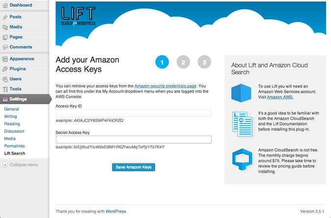 Lift: Search for WordPress Plugin WordPress, Download, Install