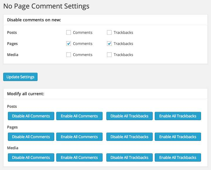 No Page Comment Plugin WordPress, Download, Install
