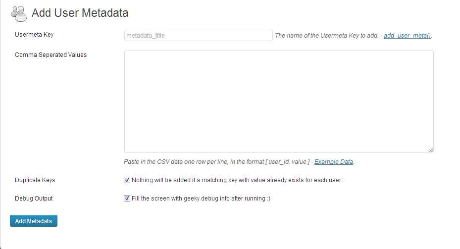 Import User Meta Data from CSV Plugin WordPress, Download, Install