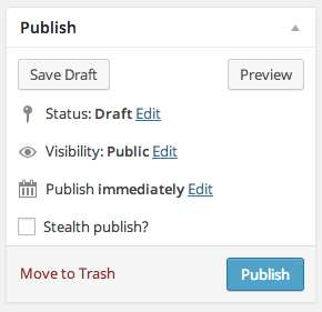 Stealth Publish Plugin WordPress