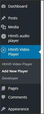 Html5 Video Player Plugin WordPress