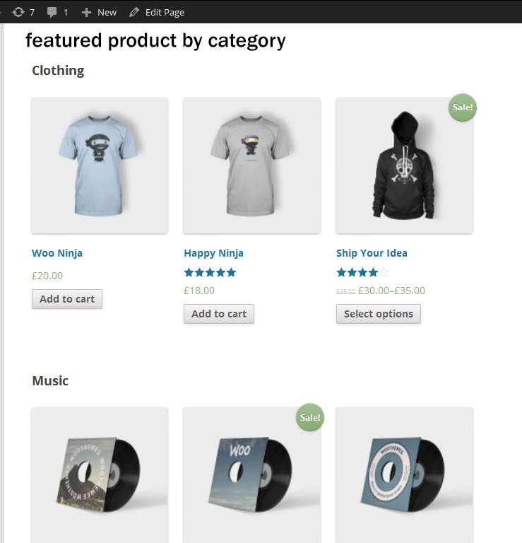 WP woocommerce featured product by category Plugin WordPress