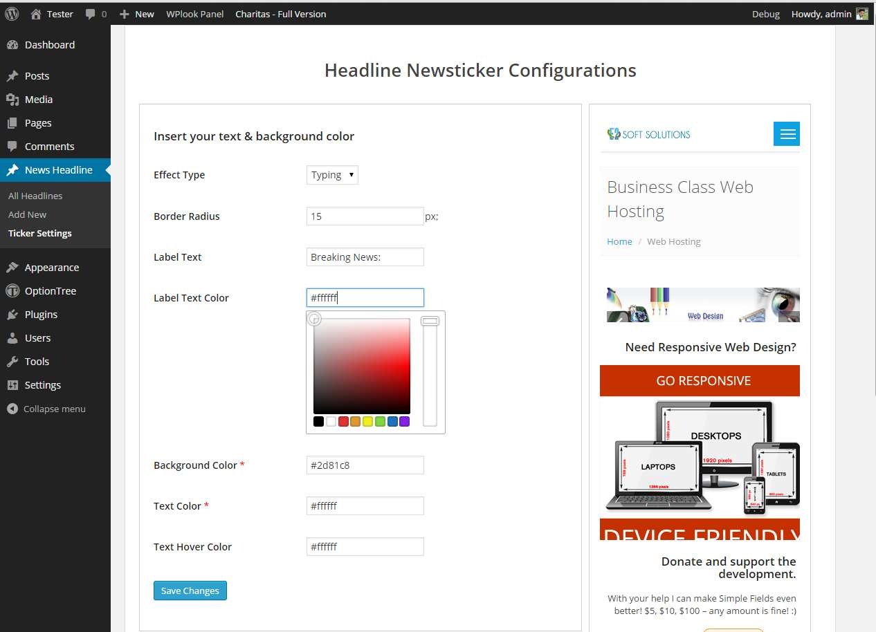 News Headline Ticker Plugin WordPress, Download, Install