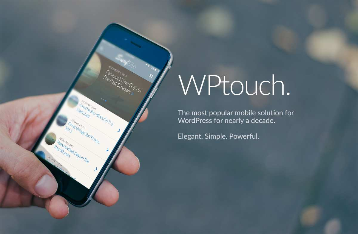 WPtouch Mobile Plugin Plugin WordPress