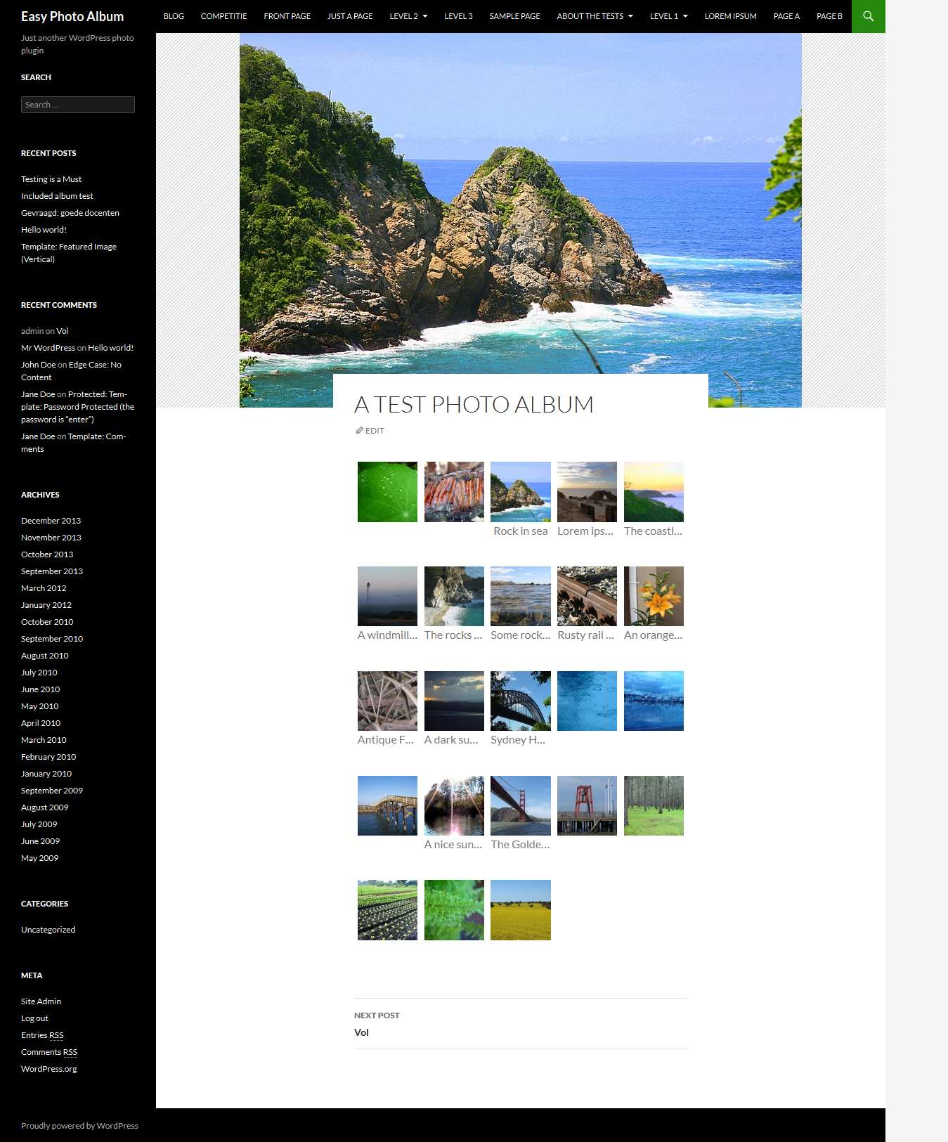Easy Photo Album Plugin WordPress, Download, Install