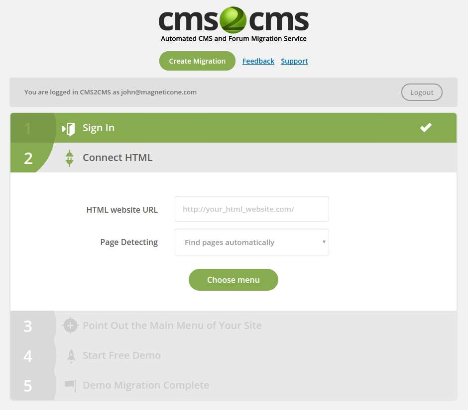 CMS2CMS: HTML to WordPress Converter Plugin WordPress