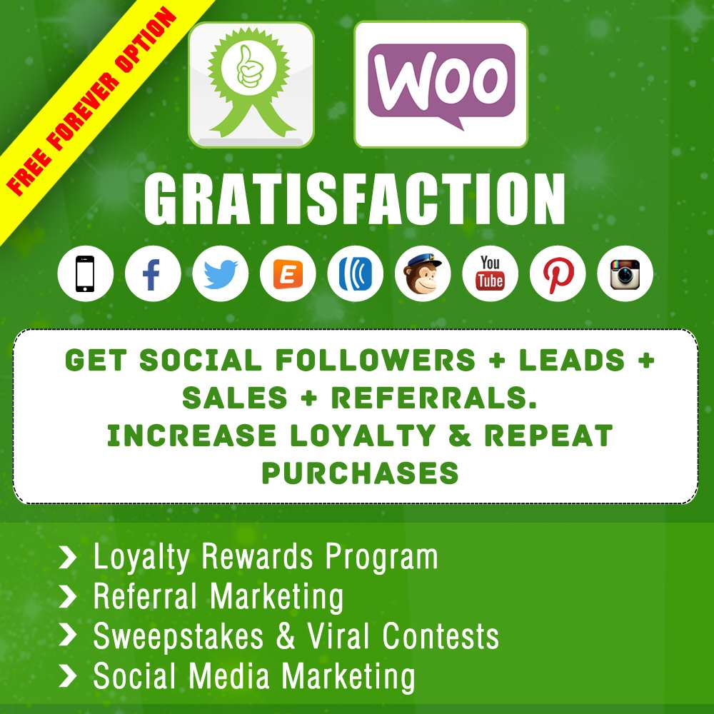 Gratisfaction- Social Contests Referral Loyalty  Rewards Program for WooCommerce Plugin WordPress, Download, Install
