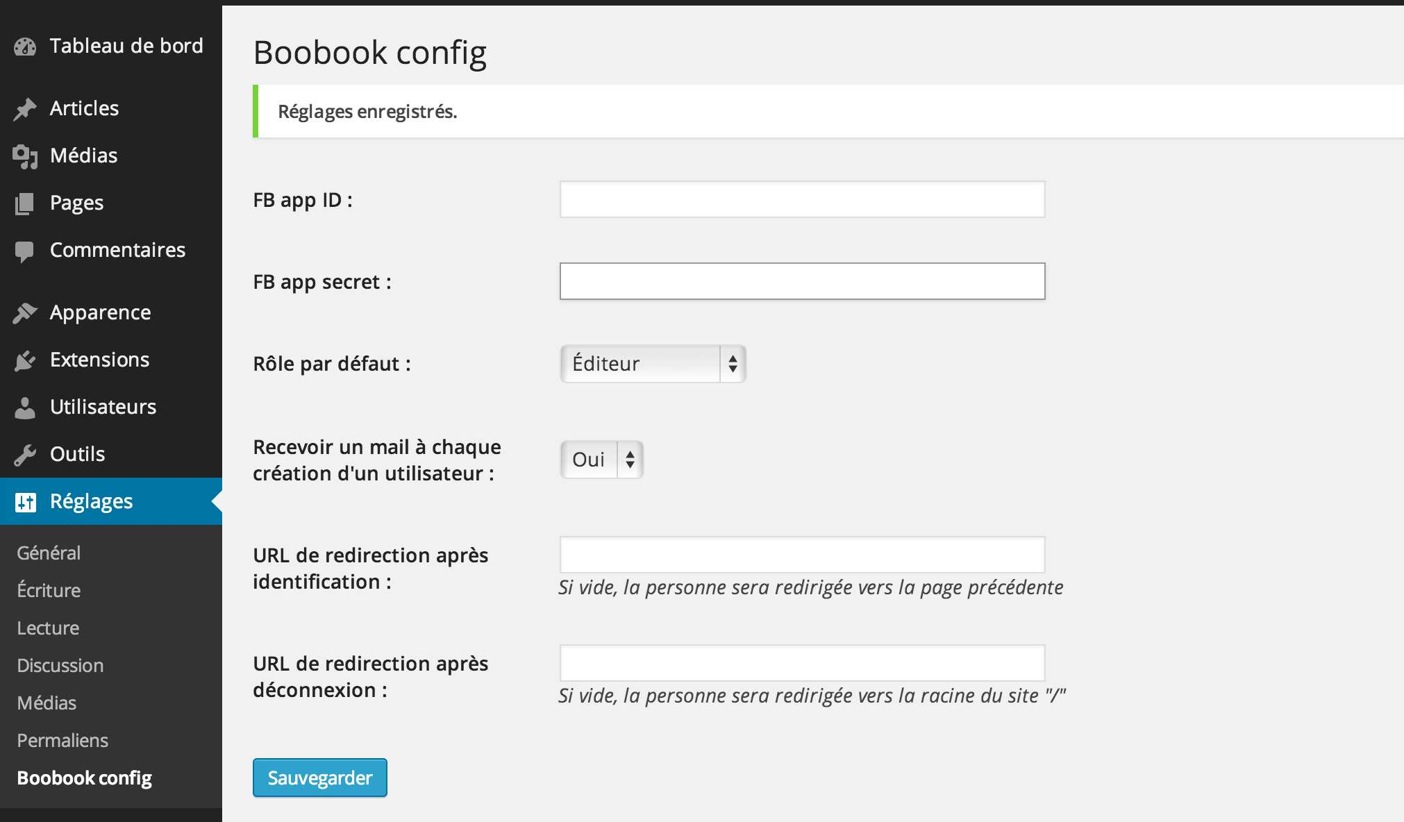 Boobook Plugin WordPress