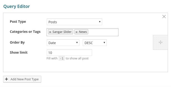 Post Slider - Sangar Slider Addon Plugin WordPress