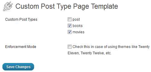 Custom Post Type Page Template Plugin WordPress, Download, Install